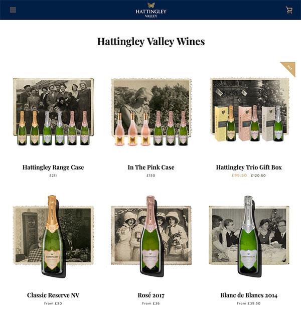 Hattingley Valley wines sell their premium wines from their website. Hattingley Valley are trialling NexGen Vine Shelters